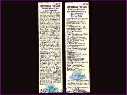 Bookmark New Age – HERBAL TEAS Guide
