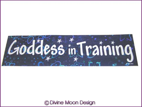BUMPER STICKER – Holographic (4B) Blue - GODDESS in TRAINING