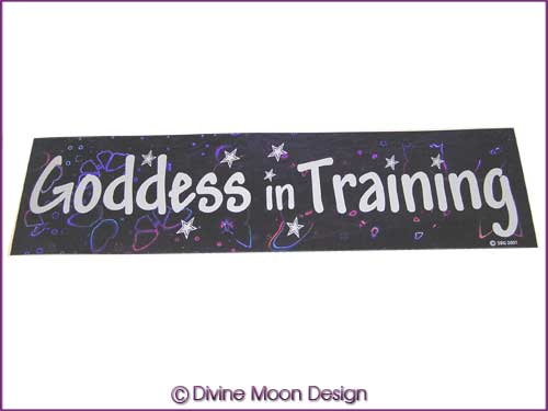 BUMPER STICKER – Holographic (4A) Purple - GODDESS in TRAINING